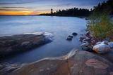 Canada, Ontario, Lake Huron, North Channel, Saint Joseph, Shore, Rock Photographic Print by Rainer Mirau