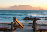 Cape Town, Table Mountain Seen from the Bloubergstrand Fotografisk tryk af Catharina Lux
