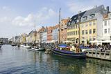 Entertainment District Nyhavn, Tourists, Copenhagen, Denmark, Scandinavia Photographic Print by Axel Schmies
