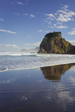 Lion Rock, Piha, Auckland, North Island, New Zealand Photographic Print by Rainer Mirau
