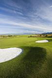 Scandinavia, Norway, Gimsoeya, Golf Course, Panorama Photographic Print by Rainer Mirau