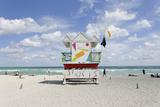 Beach Lifeguard Tower '6 St', Typical Art Deco Design, Miami South Beach Photographic Print by Axel Schmies