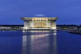 Royal Opera, Dusk, Copenhagen, Denmark, Scandinavia Fotografie-Druck von Axel Schmies