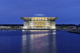 Royal Opera, Dusk, Copenhagen, Denmark, Scandinavia Photographic Print by Axel Schmies