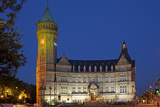 Europe, Luxembourg, Luxembourg City, Place De Metz, Bank Museum, Evening Photographic Print by Chris Seba