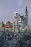 Germany, Bavaria, Neuschwanstein Castle in Winter, Morning Fog, Schwangau Near FŸssen Photographic Print by Uwe Steffens