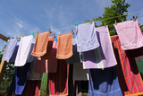 Farm, Clothesline, Towels Photographic Print by Catharina Lux