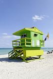 Beach Lifeguard Tower '77 St', Atlantic Ocean, Miami South Beach, Florida, Usa Photographic Print by Axel Schmies