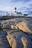 Scandinavia, Norway, Hamaroey, Tranoey, Lighthouse, Rock-Landscape Photographic Print by Rainer Mirau