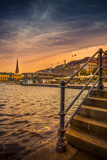 Germany, Hamburg, City Centre, the Alster, Inner Alster, Autumn Reproduction photographique par Ingo Boelter