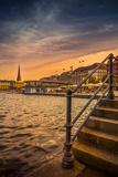 Germany, Hamburg, City Centre, the Alster, Inner Alster, Autumn Fotografisk trykk av Ingo Boelter