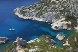 South of France, Mediterranean Coast, Chalk Rocks, Les Calanques, Bath Bay Photographic Print by Chris Seba