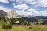 View from High Route of Kolfuschg in the Val Badia, in the Valley of Corvara, Dolomites Fotografisk trykk av Gerhard Wild