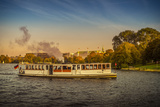 Germany, Hamburg, City Centre, the Alster, Outer Alster, Autumn Reproduction photographique par Ingo Boelter