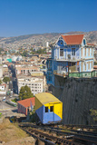 South America, Chile, Pacific Coast, Valparaiso, Harbour, Funicular Railway, Lookout Photographic Print by Chris Seba