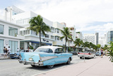Chevrolet Bel Air, Year of Manufacture 1957, the Fifties, American Vintage Car, Ocean Drive Photographic Print by Axel Schmies
