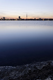 The Outer Alster Lake, Schwanenwik, Dusk, Skyline, Panorama, Hanseatic City of Hamburg, Germany Photographic Print by Axel Schmies