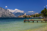 Italy, Veneto, Lake Garda, Malcesine, Townscape with Scaliger Castle Photographic Print by Udo Siebig