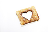 Toast with Blanked Out Heart, Cut Out, Studio Photographic Print by Axel Schmies