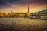 Germany, Hamburg, City Centre, the Alster, Inner Alster, Autumn Reproduction photographique par Ingo Boelter