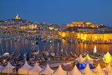 Europe, South of France, Provence, Marseille, Vieux Port Harbour, Celebration, Dusk Photographic Print by Chris Seba