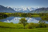 Germany, Bavaria, Foothills of the Alps with Lake Riegsee Fotografisk trykk av Ralf Gerard