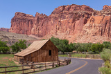 USA, Utah, Capitol Reef National Park, Historical Place Fruita, Barn Photographic Print by Catharina Lux