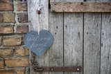 Lettered Slate Heart, Old Door, 'Welcome Home' Photographic Print by Andrea Haase