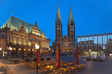 Town Hall, Cathedral, Town Hall Square, Bremen, Germany, Europe Photographic Print by Chris Seba