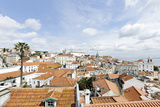 View over Alfama District and SŽ Cathedral Photographic Print by Axel Schmies