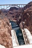 USA, Arizona and Nevada, Hoover Dam Fotografisk trykk av Catharina Lux