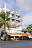 Cafe 'Medi', Art Deco Hotel, Ocean Drive, South Miami Beach, Art Deco District, Florida, Usa Photographic Print by Axel Schmies