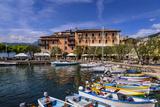 Italy, Veneto, Lake Garda, Torri Del Benaco, Harbour, Albergo Gardesana Photographic Print by Udo Siebig