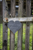 Slate Heart, Marks, Welcome Home, Old Fence Photographic Print by Andrea Haase