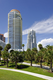 Modern High Rise, Tower in the South Pointe Park, Miami South Beach, Florida, Usa Photographic Print by Axel Schmies
