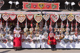 Germany, Bavaria, Munich, Theresienwiese Oktoberfest, Souvenir Stand, Gingerbread Hearts Photographic Print by Udo Siebig