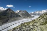Aletsch Glacier, Eggishorn, Fiesch, Switzerland, Valais Fotografie-Druck von Frank Fleischmann