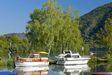 Germany, Rhineland-Palatinate, the Moselle, Niederfell, Harbour Landing Pier, Boats, Yachts Photographic Print by Chris Seba