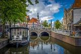 The Netherlands, Alkmaar, Church, Church Steeple, Canal Reproduction photographique par Ingo Boelter