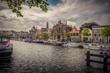 The Netherlands, Haarlem, Canal, Shore, Waterside Promenade Reproduction photographique par Ingo Boelter