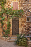 Old Door and House Facade in the Provence Photographic Print by Andrea Haase