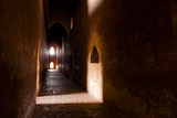 Passage in Buddhist Temple with Incidental Ray of Light in Bagan, Myanmar Photographic Print by Harry Marx
