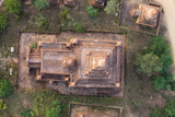 Aerial View of an Ancient Temples of Bagan at Sunrise in Myanmar Photographic Print by Harry Marx