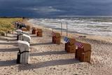 Baltic Sea Spa Wustrow, Beach, Beach Chairs Fotografisk trykk av Catharina Lux