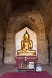Golden Buddha Statue, Bagan, Myanmar Photographic Print by Harry Marx