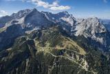 Alpspitze, Germany, Garmisch-Partenkirchen, Bavarian Oberland Region, Osterfelder Region Fotografie-Druck von Frank Fleischmann