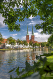 Germany, Schleswig - Holstein, LŸbeck (City), Old Town, Cathedral, Trave (River) Reproduction photographique par Ingo Boelter