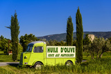 France, Provence, Vaucluse, Coustellet, Olive Mill, Pickup Van Citroen Type H, Advertising Vehicle Photographic Print by Udo Siebig