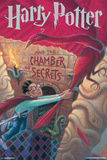 Harry Potter And The Chamber Of Secrets Stone- Book Art Cover Poster