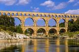 France, Languedoc-Roussillon, Gard, Vers-Pont-Du-Gard, River Gardon, Pont Du Gard Photographic Print by Udo Siebig